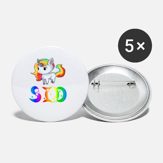 Sid Unicorns Buttons & badges - Unicorn Sid - Små buttons hvid