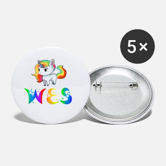Wes Unicorns Buttons - Unicorn Wes - Small Buttons white