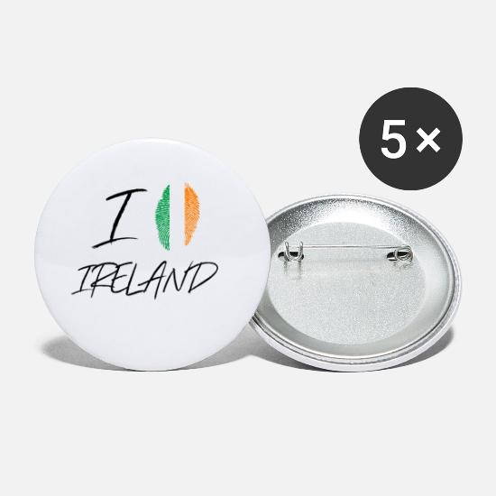 Love Buttons - I love Ireland / I Love Ireland gift - Small Buttons white