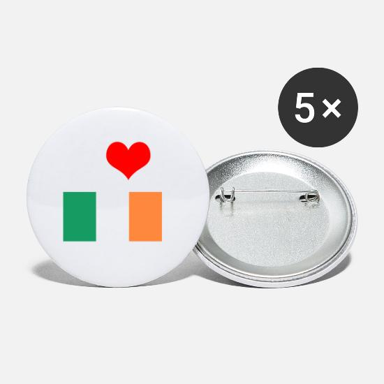 Love Buttons - I love Ireland motif perfect as a gift idea - Small Buttons white