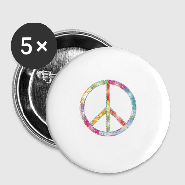 Hippie - Buttons klein 25 mm