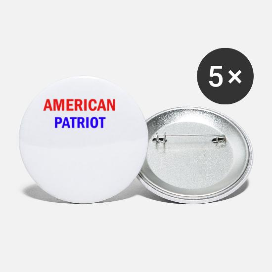 Usa Buttons & Anstecker - American Patriot - Buttons klein Weiß
