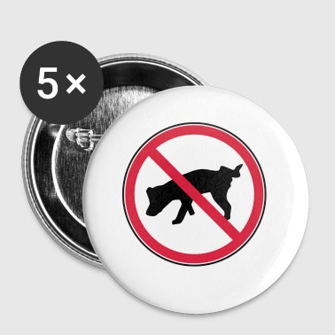 Interdit pee interdit - Badge petit 25 mm