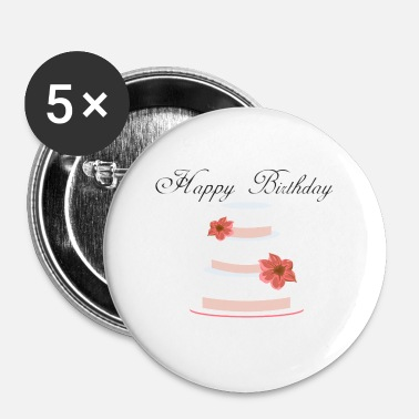 Happy Birthday happy birthday - Buttons klein 25 mm