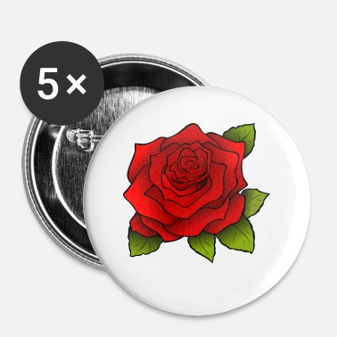 Trendy Trendy Rose motif! - Buttons small 25 mm