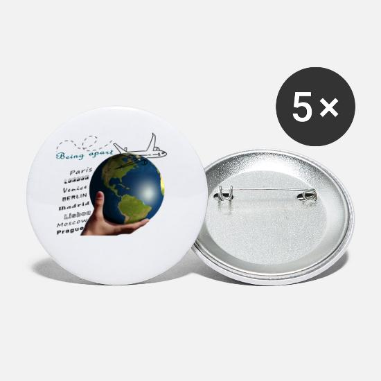Fly Buttons - Being Apart - I'm off! - Small Buttons white