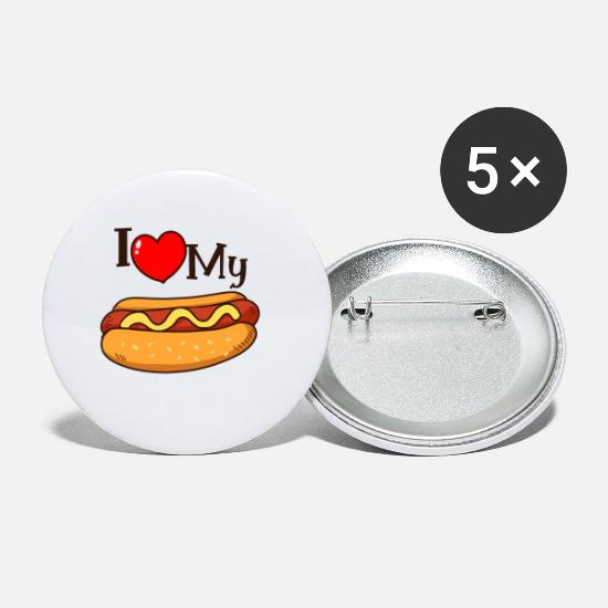 Love Buttons - Hot dog shirt - Small Buttons white