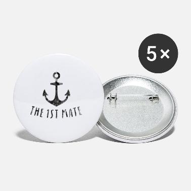 1st Mate Anchor Wedding Party Couples Gift Idea - Small Buttons