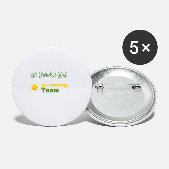 St Buttons - St. Patrick's Day Drinking Team - Small Buttons white