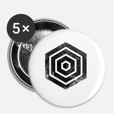 Hexagone Hexagones HEXAGONES GRUNGE - Badge petit 25 mm