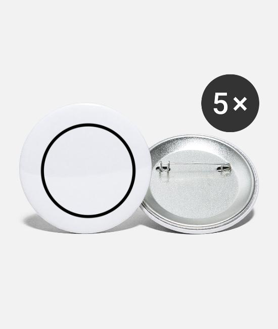 Circle Buttons - ring - Small Buttons white