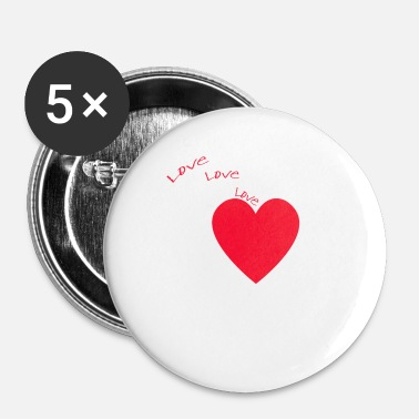 I Love I love love love Polska - Badge petit 25 mm