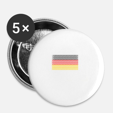 Schland Germania Made in Germany - Spilla piccola 25 mm
