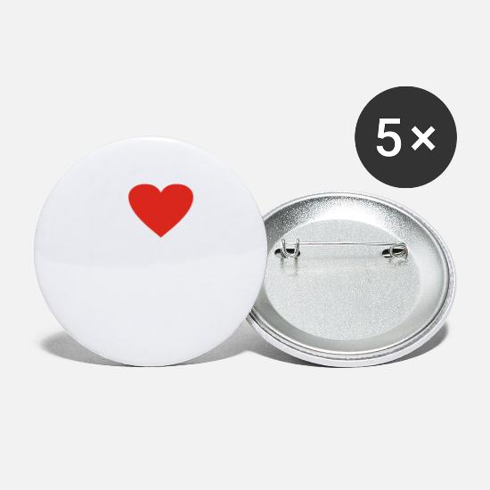 Gift Idea Buttons - Athens heart gift idea - Small Buttons white