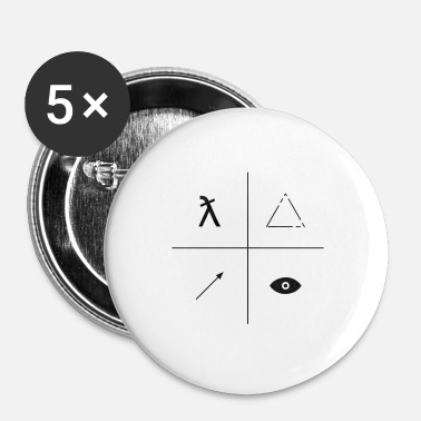 Markere mark - Buttons/Badges lille, 25 mm