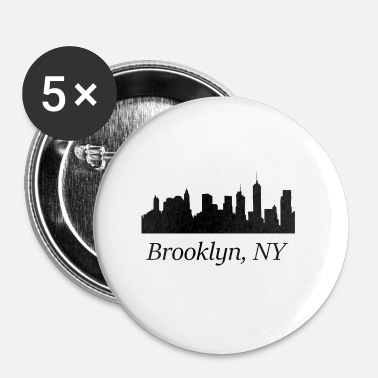 Ny Brooklyn, NY - Buttons klein 25 mm (5-pack)