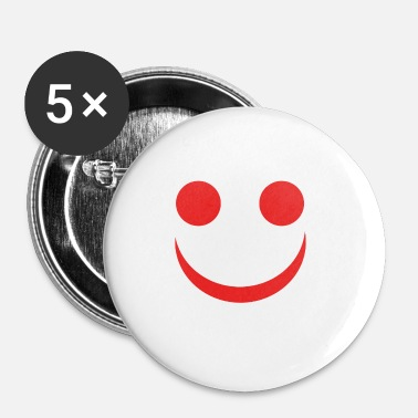 Neutre Visage amical avec un regard neutre - Badge petit 25 mm
