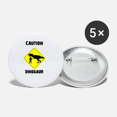 Age Caution Dinosaur (Stone Age Lovers) - Small Buttons