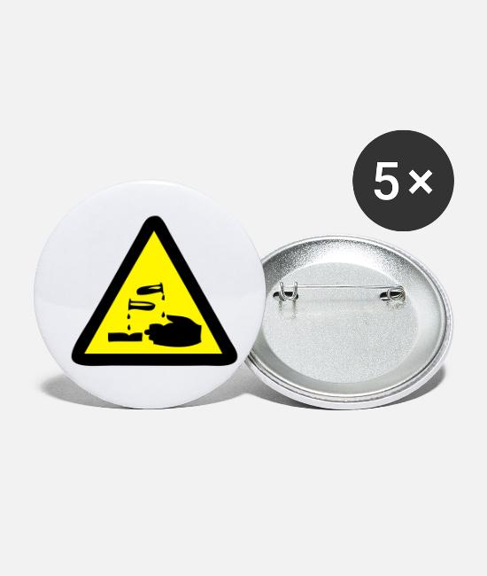 Chemistry Buttons - Corrosive - Small Buttons white