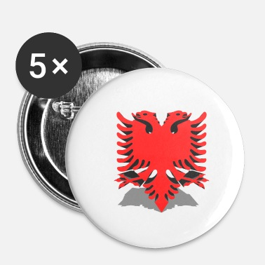 Bandera albanien - Buttons/Badges lille, 25 mm