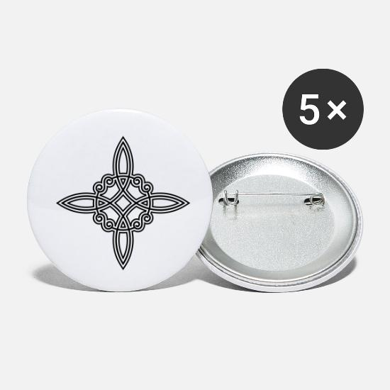 Wiccan witch knot witch symbol Celtic knot Buttons small 1''/25 mm (5-pack)  - white