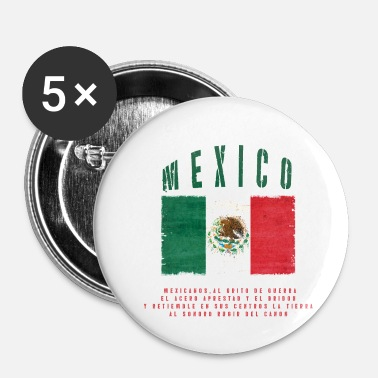 Bandera Mexicansk Flag Bandera Mexico - Buttons/Badges lille, 25 mm