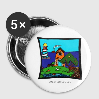 Holidays at the sea - Buttons small 25 mm