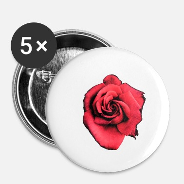 Roos rose - Buttons klein 25 mm