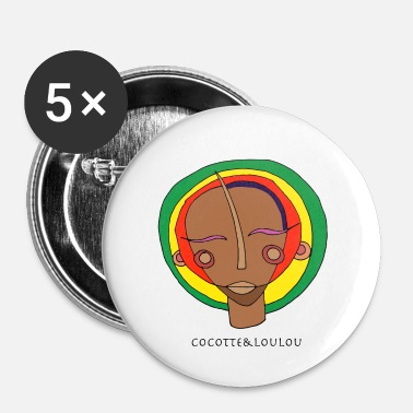 Rasta Masque rasta - Badge petit 25 mm