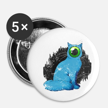 Weird Cyclope chat Weird - Badge petit 25 mm