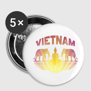 Vietnam elephant with Buddha / gift idea - Buttons small 25 mm