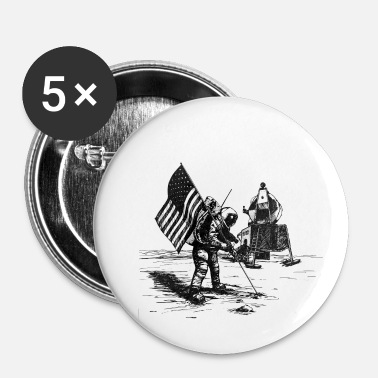 Månen Til månen. månen - Buttons/Badges lille, 25 mm