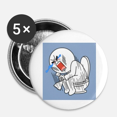 Toilette toilette - Badge petit 25 mm