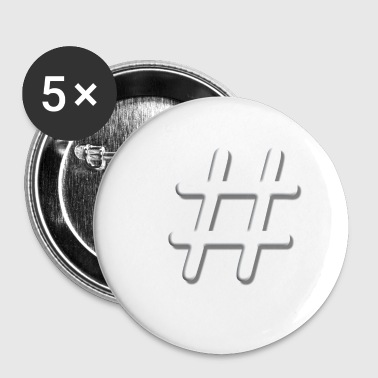 Tic Tac Toe blanc - Badge petit 25 mm