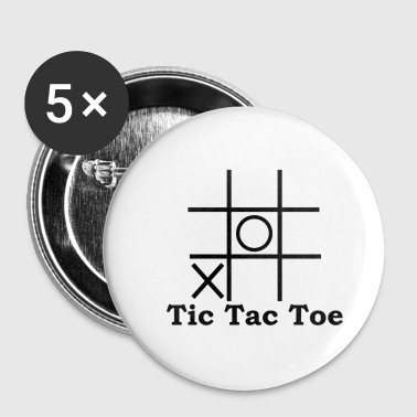 Tic Tac Toe - Badge petit 25 mm