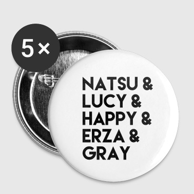 Fairy Tail Fairy Tail Anime characters gift idea - Buttons small 25 mm