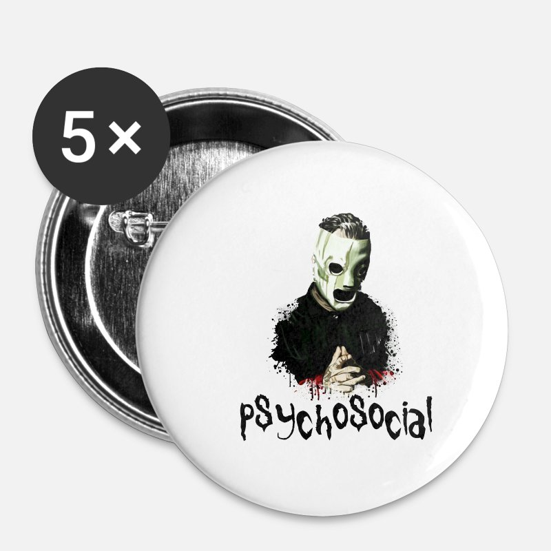 Rap Buttons - T-shirt - Corey taylor - Small Buttons white