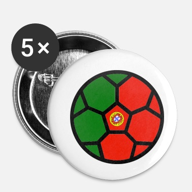 Coupe Du Monde De Foot Coupe du monde de football Drapeau Portugal Coupe du monde - Badge petit 25 mm