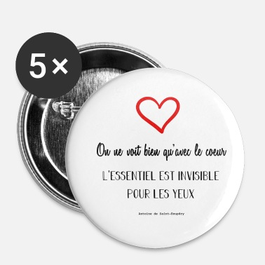 Citations Citation de Antoine de Saint Exupéry - Badge petit 25 mm