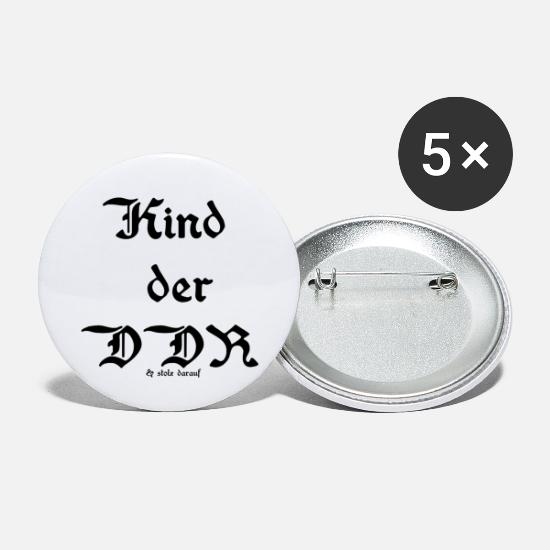 East Buttons - Child of the GDR, sayings, Ostalgie, - Small Buttons white