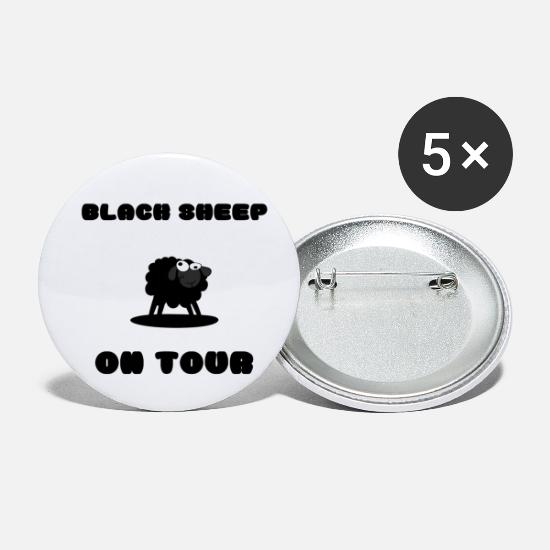 Får Buttons & badges - Black Sheep on Tour! - Små buttons hvid