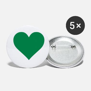 Corazon Green Heart Love - Buttons klein