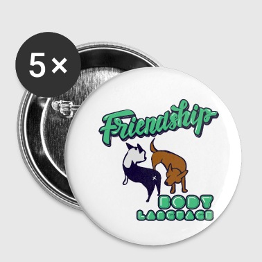 Snuggle Friendship dogs - Buttons small 25 mm