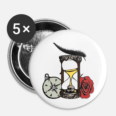 Sablier sablier - Badge petit 25 mm