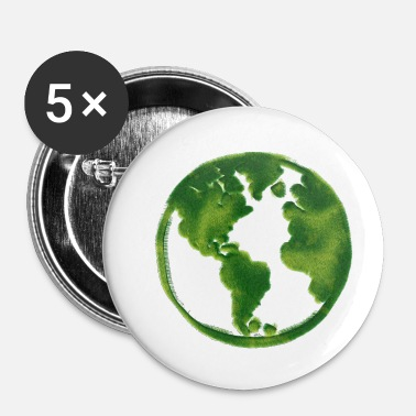 Green Peace Idée de cadeau Green Green Earth - Badge petit 25 mm