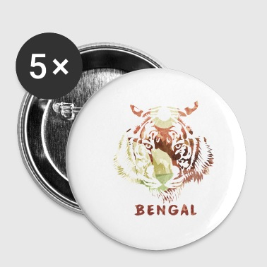 Tigre Du Bengale Bengale - Badge petit 25 mm