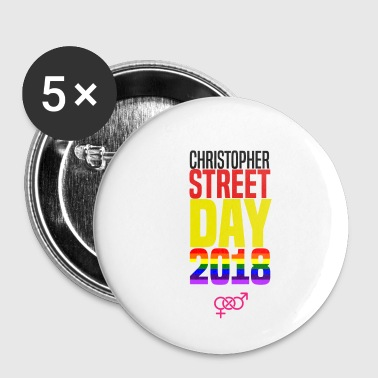 Christopher Street Day 2018 Gay Pride Geschenk - Buttons klein 25 mm