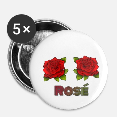 rose - Buttons klein 25 mm