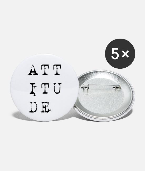 I Love Me Buttons - Attitude - Small Buttons white