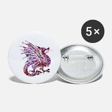Dragon Dragon Dragon Dragon coloré - Petits badges